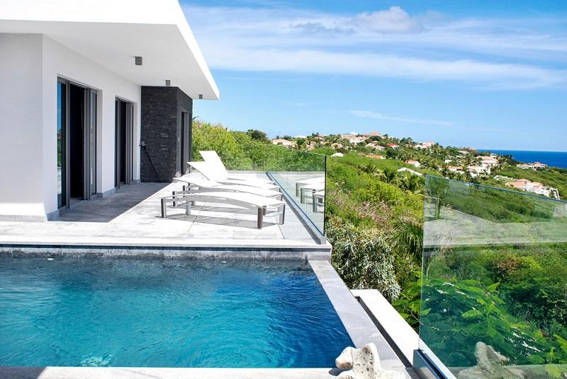 Crystal at Red Pond Estate, Saint Maarten - Ocean View, Pool, Pergola With Elecronic Cover - Image 1 - Saint Maarten - rentals