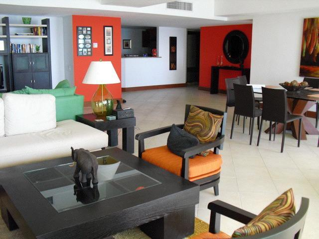 view from living room to kitchen - 3 BR Bay View Grand - Fabulous Oceanfront Paradise - Ixtapa - rentals
