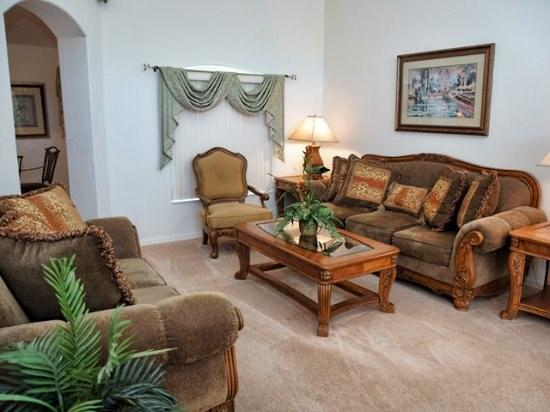 Living Area - OT4P15903RHL 4 BR Disney Pool Home with Games Room, Spa and WiFi - Clermont - rentals