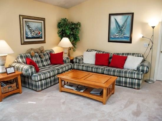Living Area - CL3P5544WBT 3 BR Budget Friendly Pool Home wtih Lovely Furnishings - Kissimmee - rentals