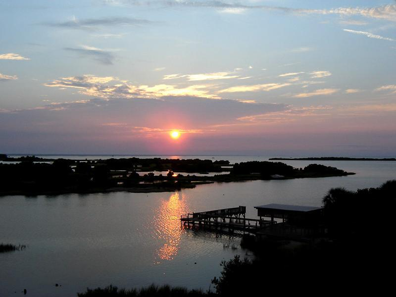 View from Tranquility's Balcony - Sunrise over Cedar Key - Cedar Key Tranquility Awesome View & Amenities! - Cedar Key - rentals