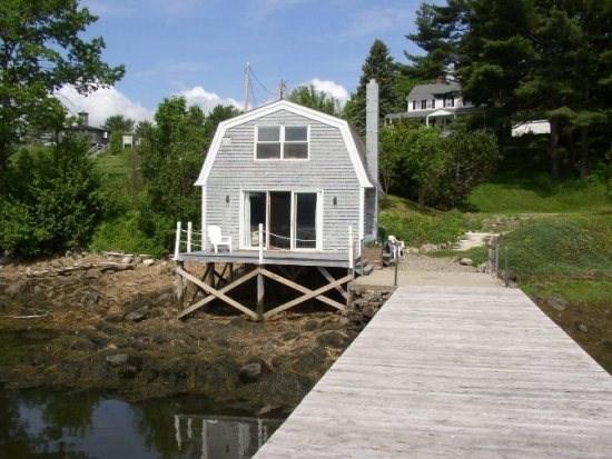 View of Anns Boathouse - Waterfront Getaway for Two - Edgecomb - rentals