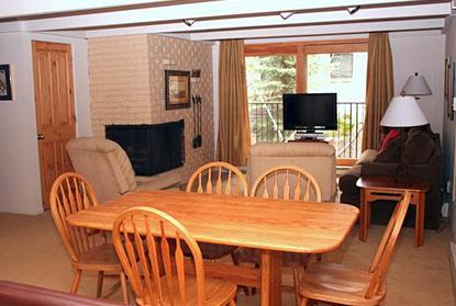 Dining  and living area - 2 Bedroom/2 Bath Condo At Chateau Blanc- Unit 9 - Aspen - rentals