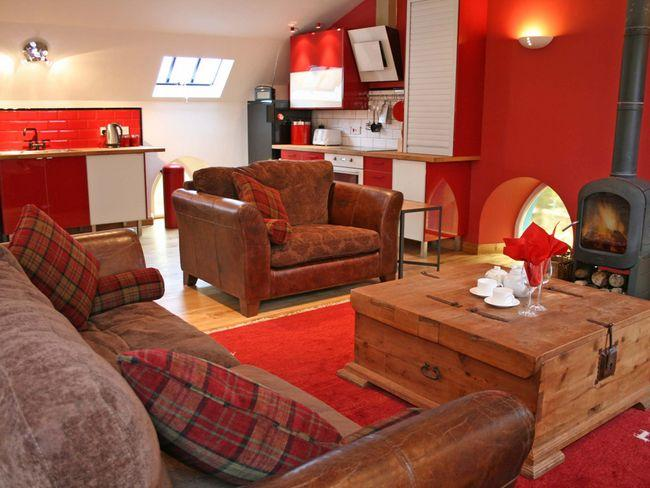 Lounge with woodburner - LK21M - Leadhills - rentals