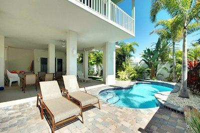 Covered Patio Near Pool - SeaBreeze Sands-202 38th - Holmes Beach - rentals