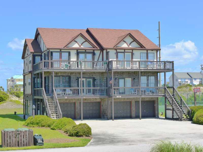 "Ocean Reef Treasure is the left side condo in this picture.  2nd floor above the garage. - Ocean Reef 15-B1 ""Ocean Reef Treasure"" - Emerald Isle - rentals"