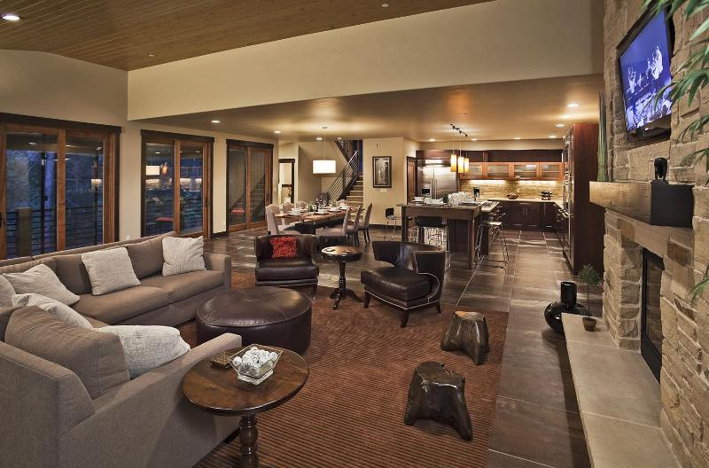 Main Floor Living Area - Steamboat Granite Falls Luxury Chalet - Steamboat Springs - rentals