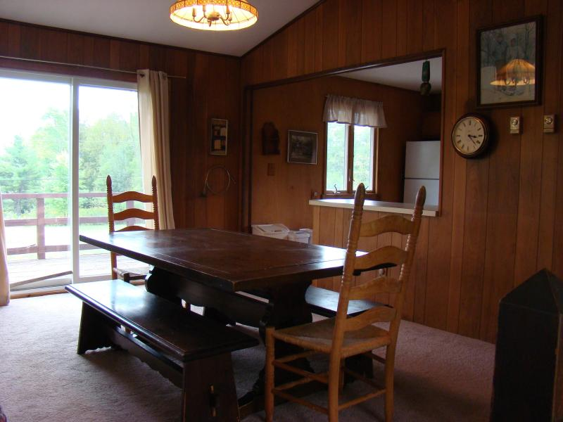 dining area with sliding doors to front deck and beautiful mountain views  - Windham, NY -Moutain House Retreat-Catskill Mtns. - Windham - rentals