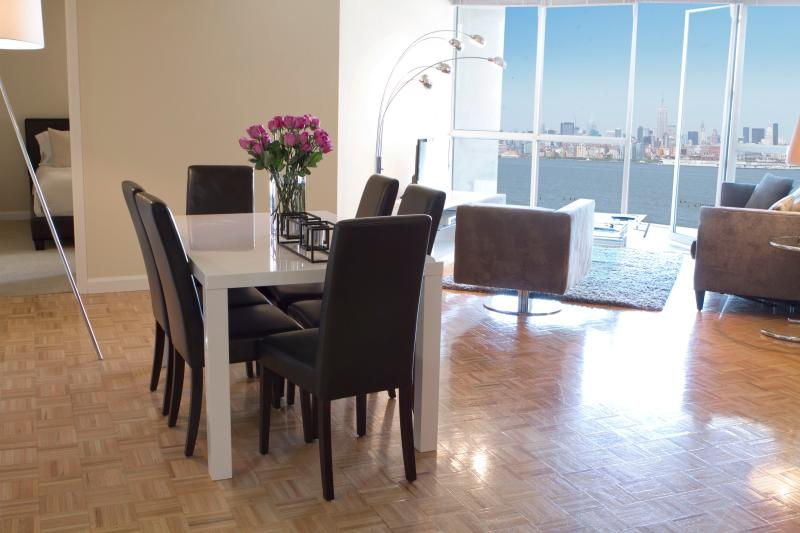 Spacious living room - Sky City at The Harbor, 2 bedroom Premium sleep up to 8! - Jersey City - rentals