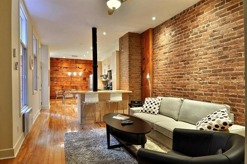 Living room/kitchen/dining room - Superb apartement in downtown Montreal - Montreal - rentals