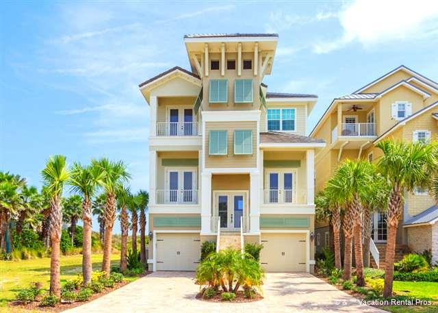 Welcome to Tiki Tides, oceanfront on Cinnamon Beach! - Tiki Tides, Ocean Front, 7 Bedrooms, Pool, Spa, T - Palm Coast - rentals