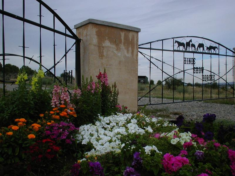 Gate to our farm - 1 Bedroom house on a working horse farm . - Durango - rentals