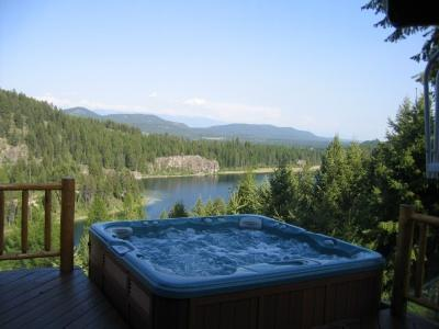 Hot Tub - Spectacular 4 Bedroom Log Home on Bootjack Lake - Whitefish - rentals
