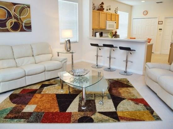 Family Room - HR3P456HCD Orlando 3 Bedroom Pool Home Close to Parks and Malls - Davenport - rentals