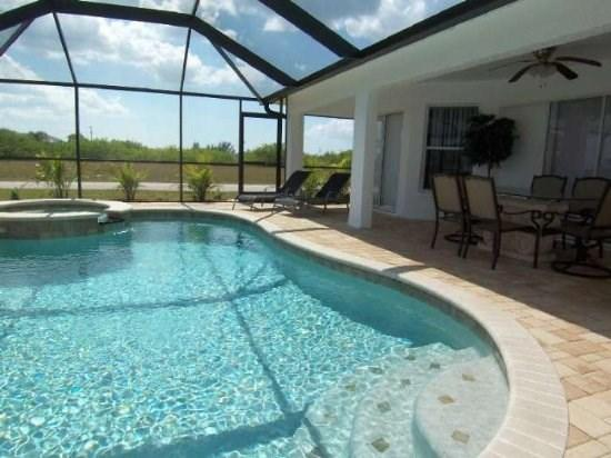 Sunset View - 3/br 2/ba electric heated pool and spa home, North West Cape Coral, WHS Internet, quiet neighborhood, - Image 1 - Cape Coral - rentals
