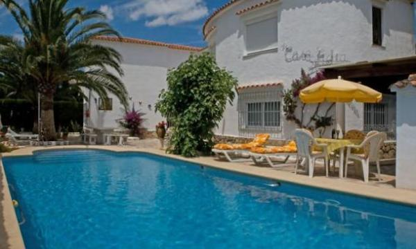 View on Pool and at background Bungalow 'Casa Esther' - DENIA -Bungalow 90m2,  Pool 5x10m, Terrace, Sea fine Sandy Beach 200m, Parking, WIFI, Sat. TV - Els Poblets - rentals