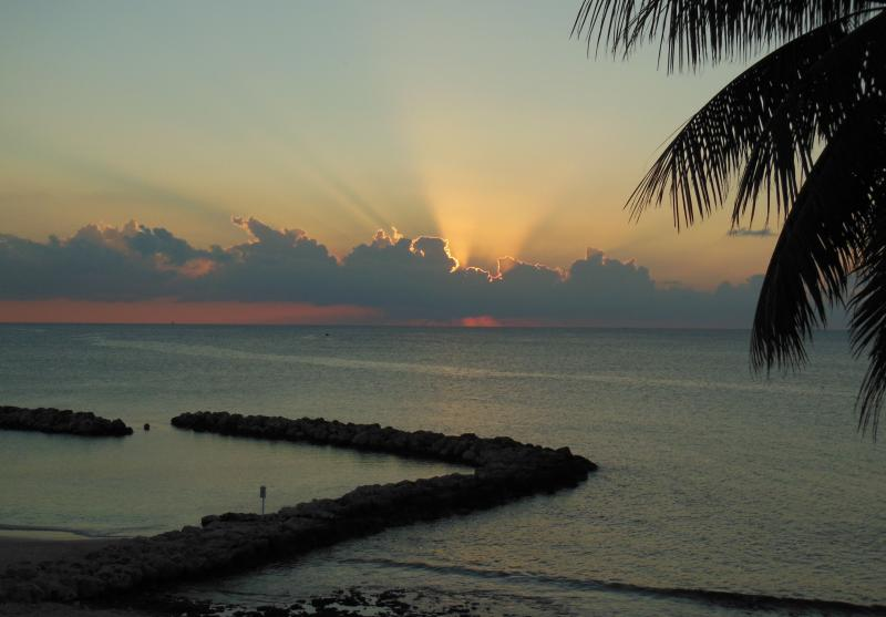 Another great sunsuet ! - 3 Bed Condo with Huge Patio on Seven Mile Beach - Seven Mile Beach - rentals