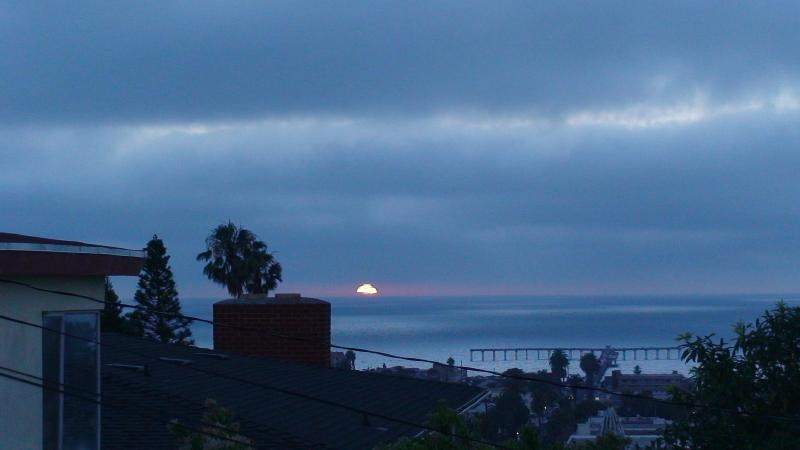 Night time view from front yard.  Ocean Beach Pier - Beautiful & Spacious Ocean View Beach House - San Diego - rentals