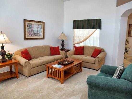 Living Area - OT4P16233EHS 4 BR Pool Home Totally Furnished with Spa - Clermont - rentals