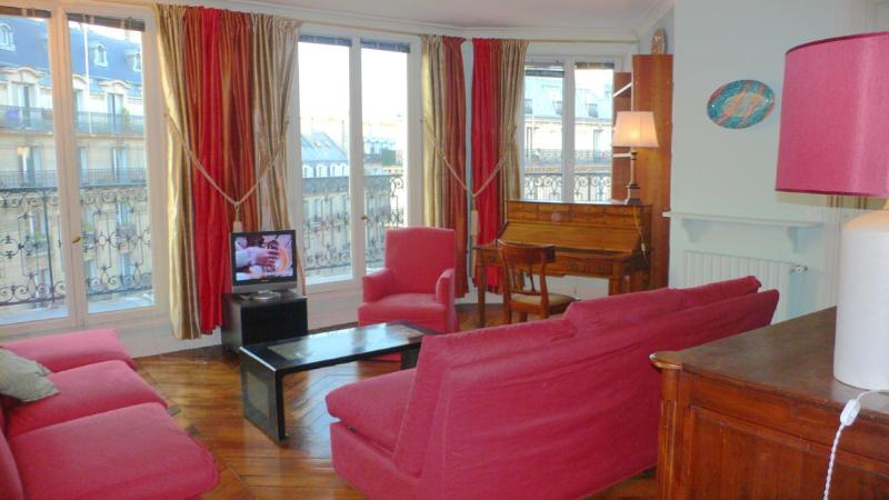 A great sitting room overlooking the Boulevard Raspail. - 372 Two bedrooms Balcony 2 bath  Paris Luxembourg district - Paris - rentals
