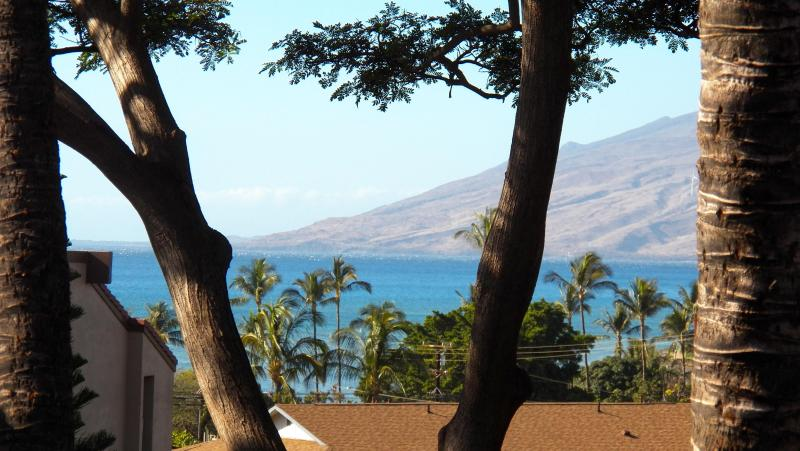 Zoomed ocean view and West Maui moutains from balcony - Maui Vista with PRIVATE loft! - Kihei - rentals