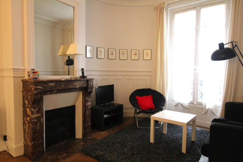 The living room - Quiet 2BR near the rue de Buci and Pont Neuf - 5th Arrondissement Panthéon - rentals