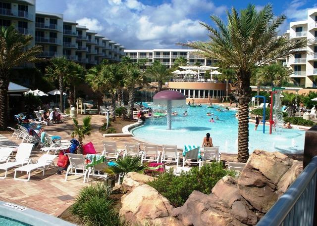 """Waterscape Unit C604"" Water Wonderland/Lazy River/Waterfalls!! Courtyard and Gulf Views!! - Image 1 - Fort Walton Beach - rentals"