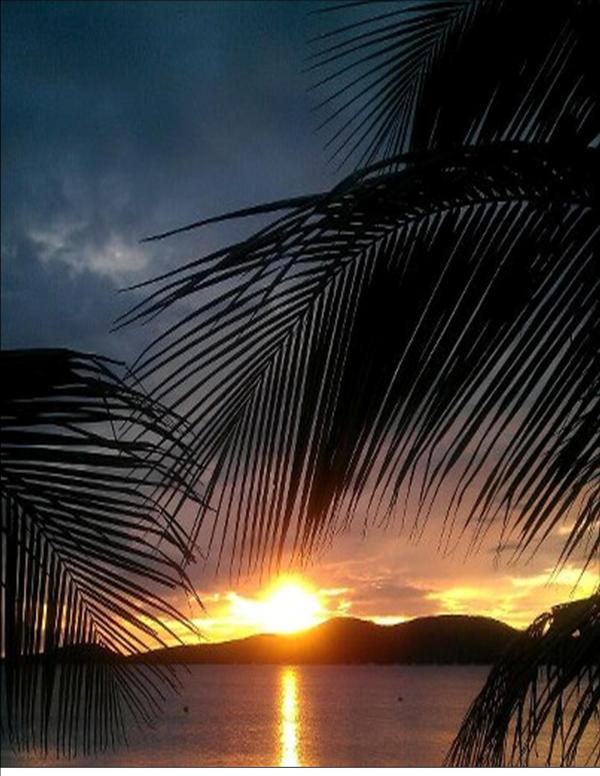 Sunset View from Casa Yaboa - Casa Yaboa:Casa Guayacan.Unique Beachfront Cottage - Culebra - rentals