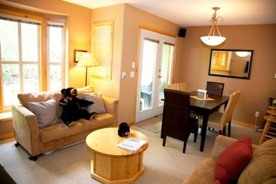 Living & Dining - Crystal Forest Condos - 07 - Sun Peaks - rentals