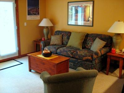 Living Room with Sofa Bed - Timberline Village - 20 - Sun Peaks - rentals