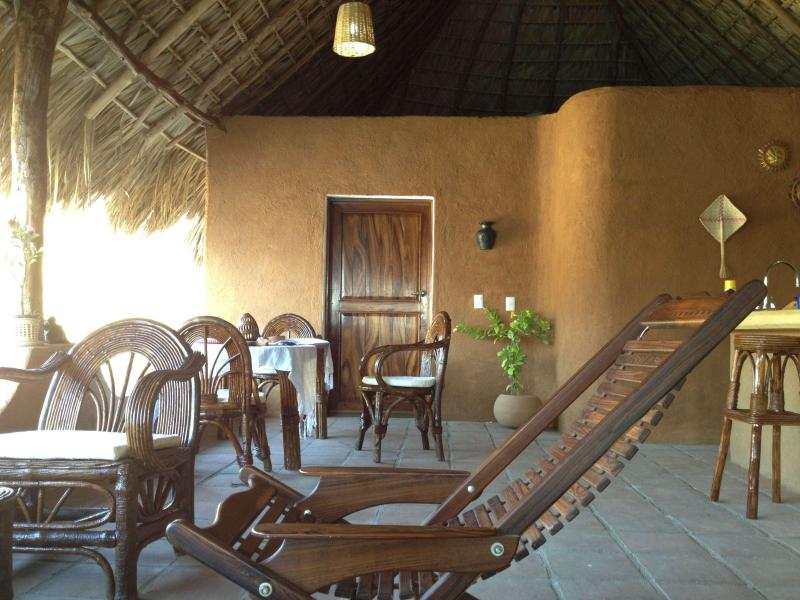 the living and dinning room area - Casa Luna - Dream beach house in Oaxaca, Mexico! - Oaxaca - rentals