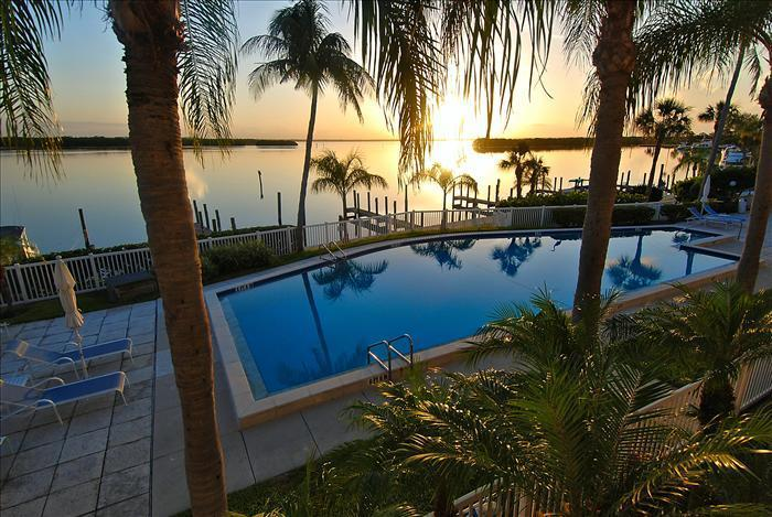Sunset view from balcony - Harbour Villa Club 205 on Longboat Key - Longboat Key - rentals