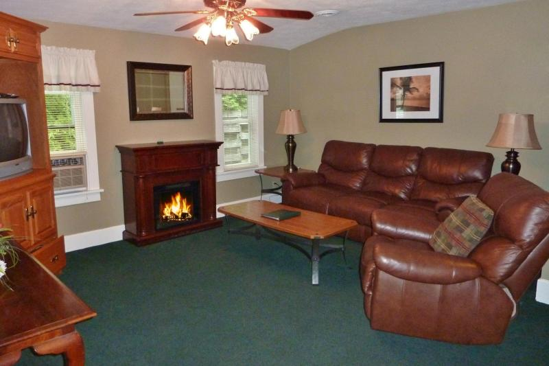 Living room of Cottage A - 2 bedrooms, screen porch, walk to Lake Michigan - South Haven - rentals