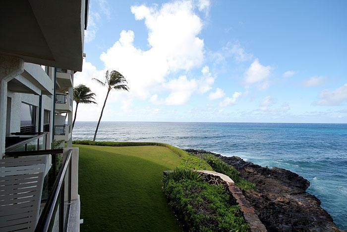 View from Lanai - Poipu 2BR Oceanfront Condo/Kitchen/WiFi 207A - Poipu - rentals