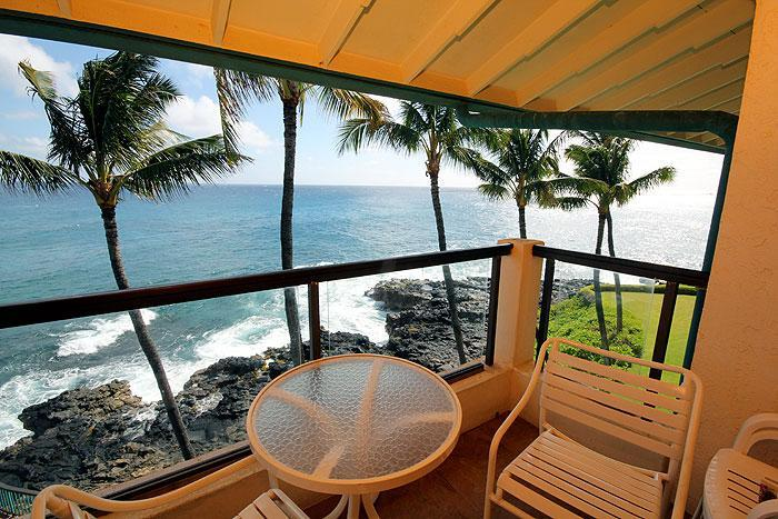 Lanai - Ideal 2BR Oceanfront Poipu Condo/Kitchen/WiFi 401A - Poipu - rentals
