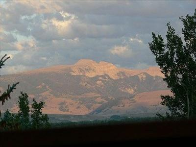 View of the Gros Ventre mountains and the