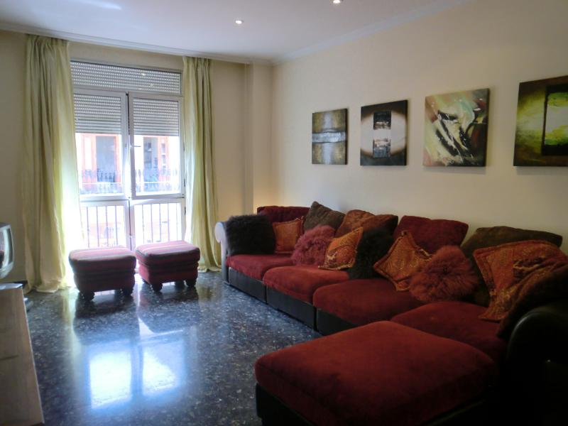 Spacious lounge - 3 bedrooms apartment in Russafa, downtown Valencia - Valencia - rentals