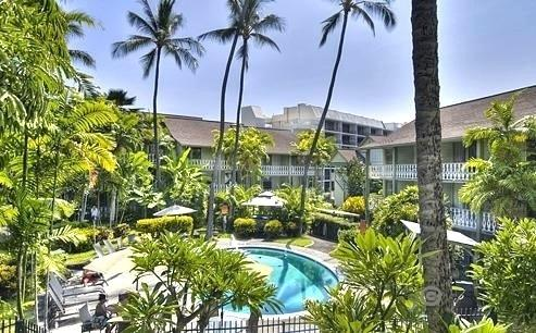 Your view from our #216 condo's private lanai - a tropical tranquility in Old Hawaii setting! - DEAL! Romantic Hawaiian Beach Condo Downtown Kona - Kailua-Kona - rentals