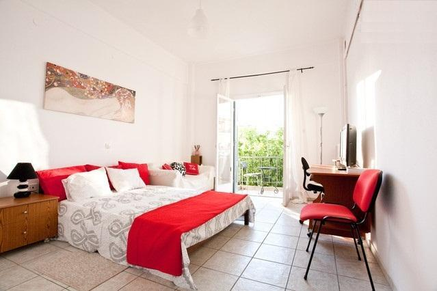 Bedroom - Athens view cosy apartment close to metro & beach - Athens - rentals