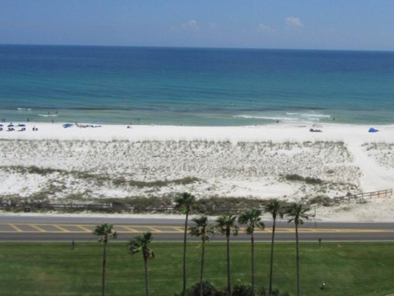 Beach view from balcony of 1-903 west - Gulf Front Condo- Amazing Beach and Bay Views! - Pensacola Beach - rentals