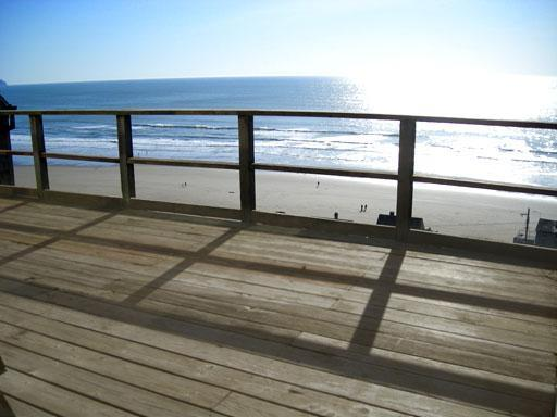 Unit A ocean view left from front deck. - Ocean Side Oregon Beach House - Oceanside - rentals