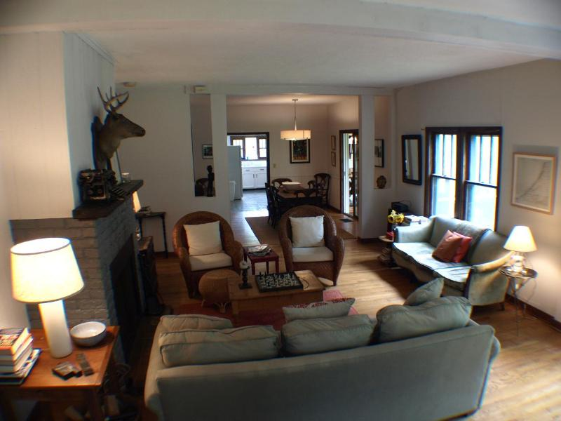Open Living Room/Dining Room - Aqua Writer's Cottage *$225/nt SECLUDED PEACEFUL* - Lakeside - rentals
