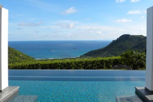 Modern villa tucked away full of surprises with sweeping views WV VLY - Image 1 - Vitet - rentals