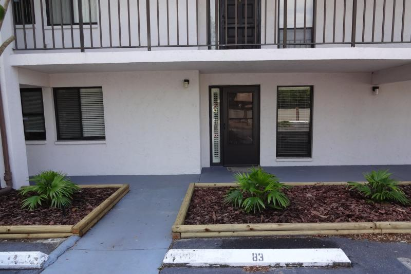 Condo front and Parking Space - Newly Furnished 2BR/2b Ground Floor Condo - Sarasota - rentals