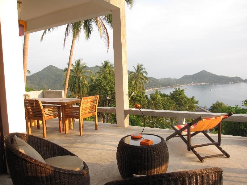 Terrasse and view - The bungalove : Design house on Koh Tao Island - Koh Tao - rentals