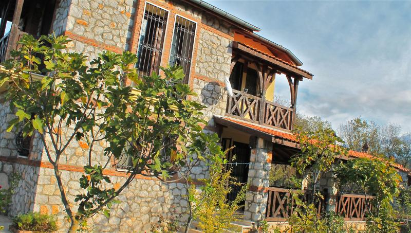 Set in 10 acres, the villa is a proper farmhouse. - Private Villa In Mature Apple Orchard in Kayakoy - Kayakoy - rentals