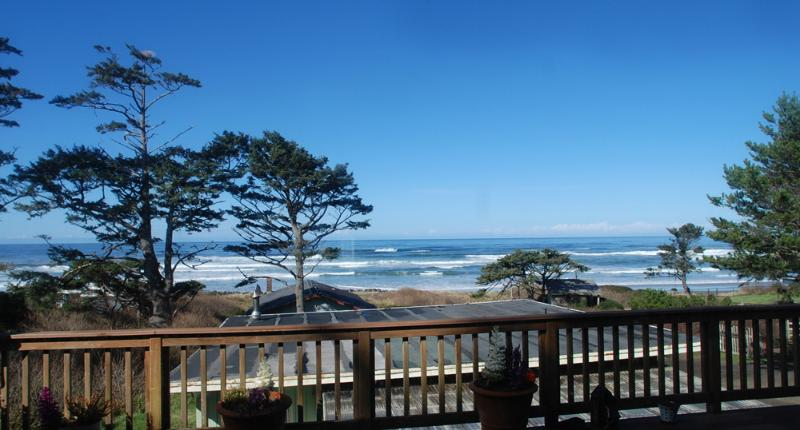 Ocean Front View from the Deck - Panoramic Ocean View with Large Deck and Hot Tub! - Yachats - rentals