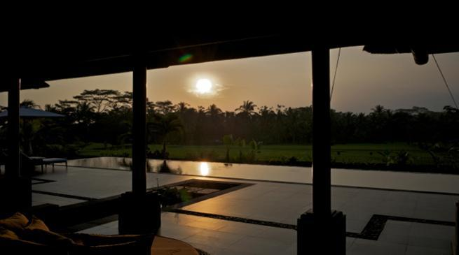 sunset at the villa - Villa Rumah Lotus Ubud luxurious,private,2 bedrooms villa - Ubud - rentals