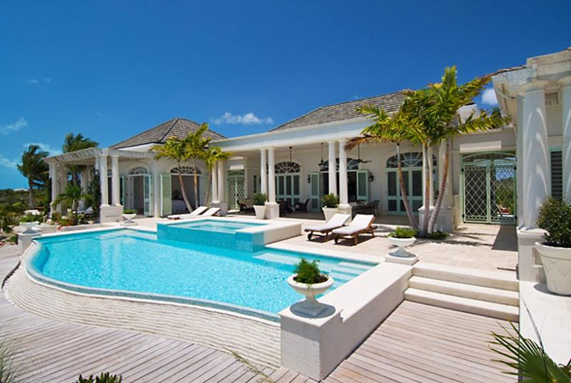 Turks And Caicos Villa 40 Entry By Way Of The Covered Front Veranda And Arched Foyer Instantly Presents Full Stunning Views Of The Ocean And Pool. - Image 1 - Turks and Caicos - rentals
