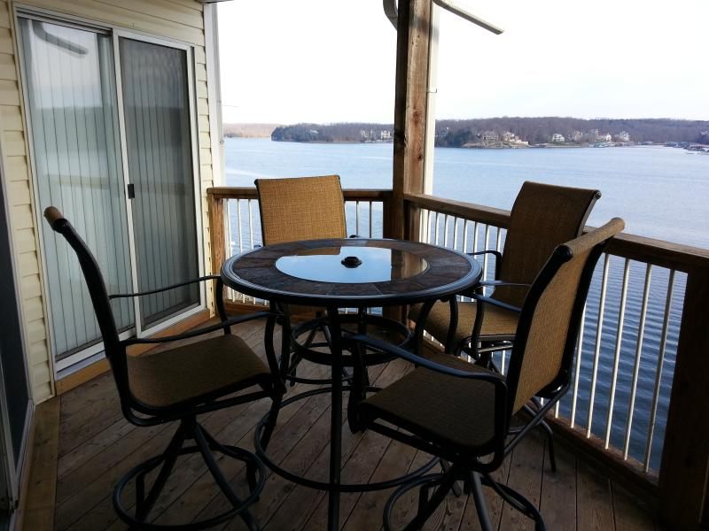 Main channel view from our balcony - Ledges (10310) 2 BR Condo with Awesome Lake View - Osage Beach - rentals